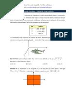 1ª Lista de Exercícios - Funções de várias variáveis
