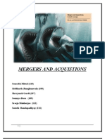 Merger and Acqisitions