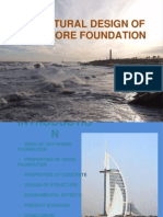 Seminar report on Structural Design of Off-shore Foundation