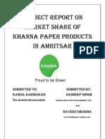 Khnnna Paper Mills Project