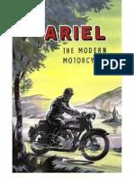 Ariel Motorcycle Sales Brochure 1959
