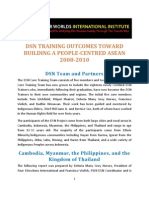 DSN Training Reports and Outcomes Toward Building a People Centred ASEAN
