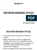 Session 4 (Decision Making Styles)