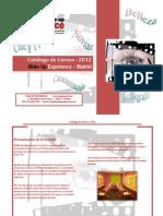 Catalogo de Cursos Make Up Experience Madrid 2012