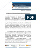 V Congreso Mundial por los Derechos de la Infancia y la Adolescencia - PRESENTACIÓN