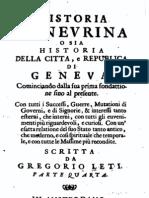 Historia Genevrina, 1686 - di Gregorio Leti - Parte IV