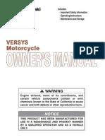 2010 Kawasaki Versys Owners Manual