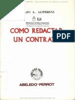 Como Redactar Un Contrato - Atilio a. Alterini
