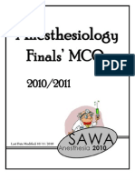 Anesthesiology Finals MCQs