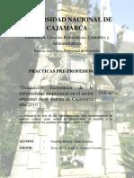 Evaluacion Economica de La Informal Id Ad rial en El Distrito de Cajamarca