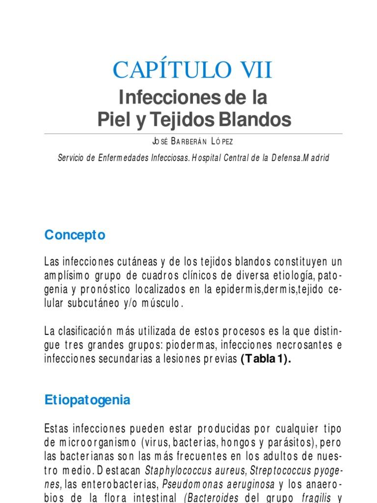tipos de infeccion de piel y partes blandas