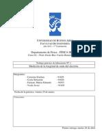 TP 1 Medicion de La Longitud de Onda Del Electron