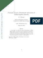 Clifford Element Determinant