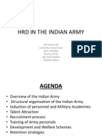Hrd in the Indian Army