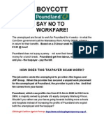 Boycott Poundland leaflet