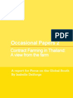 Contract Farming in Thailand, Focus on the Global South, WP 2