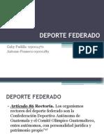 DEPORTE FEDERADO