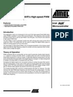 El Uso de Los 8 Bits AVR de Alta Velocidad PWM