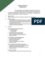 Programa Introducción a la Investigación de Operaciones