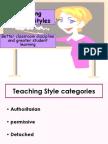 Improving Teaching Styles