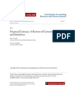 Financial Literacy- A Review of Government Policy and Initiatives