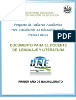 Actividades de Refuerzo - Lenguaje y Literatura - PRAEM 2011