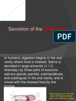 Secretion of the Oral Cavity