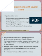 Design of Experiments With Several Factors