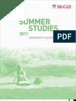 Summer Studies 2011
