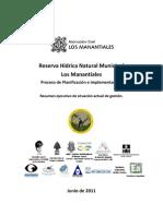 Resumen Reserva Los Manantiales - Río Ceballos - Córdoba