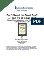 Dont Sweat the Small Stuff BIZ