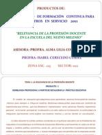 PRODUCTOS CURSO BÁSICO 2011- Profra. Isabel Cerecedo Curiel