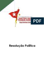 RESOLUÇÃO POLITICA 4 CONGRESSO versao final