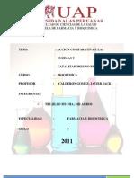 ACCION COMPARATIVA DE LAS ENZIMAS Y CATALIZADORES NO BIOLOGICOS