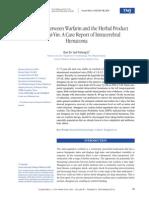 antiagregante plaquetario warfarina