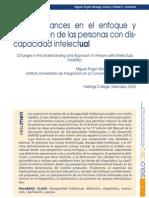Ultimos avances en Discapacidad Intelectual (Verdugo-Schalock,2010)