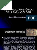 DESARROLLO HISTÓRICO DE LA FARMACOLOGÍA I PARTE