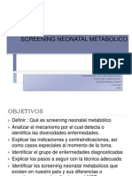 Screening Neonatal Metabolico Isss