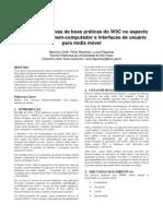 Análise das diretivas de boas práticas do W3C no aspecto de interação homem-computador e interfaces de usuário para mídia móvel