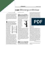 Three Books on Literary Criticism