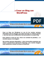 Como Crear Un Blog Con WordPress