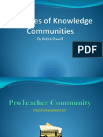 Examples of Knowledge Communities