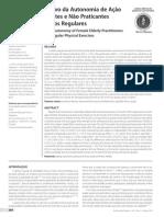 Estudo Comparativo da Autonomia de Ação de Idosas Praticantes e Não Praticantes
