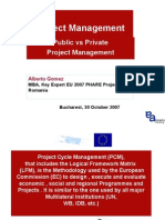 Project Cycle Management Presen CODECS ROMANIA Private Public Oct 07