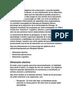 La Taxonomía de objetivos de la educación