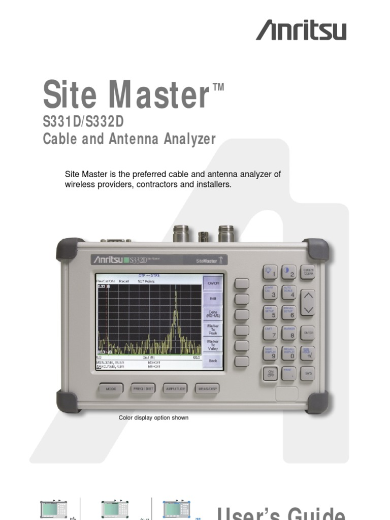 anritsu site master s331d s332d user guide calibration rh scribd com User Guides Samples New Balance Manuals