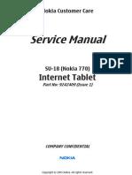 Nokia 770 SU-18 Service Manual Service Level 3 4