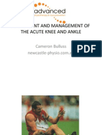 Acute Ankle and Knee Lecture to Gps