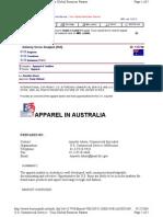 Australia Apparel Market