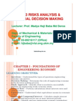 Risk Analysis and Finance